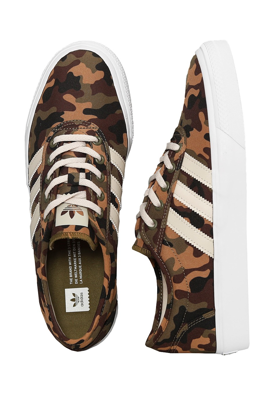 best service 6f122 b4dde Adidas - Adi-Ease Olive CargoClearBrownFtwr White - Shoes - Impericon.com  UK