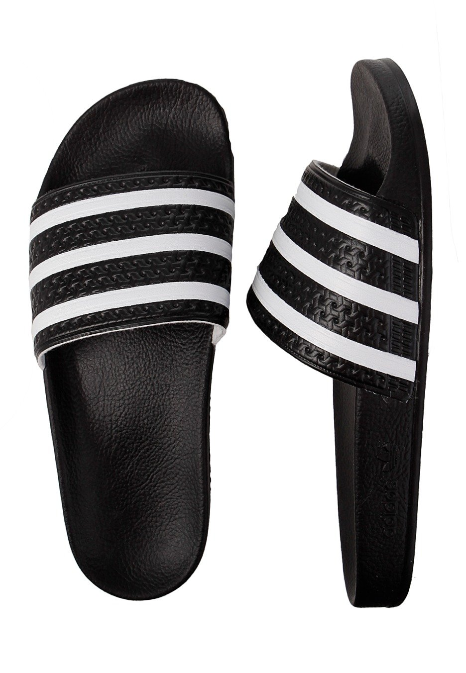 new style 06d52 5b69e Adidas - Adilette Black White - Sandals - Impericon.com Worldwide