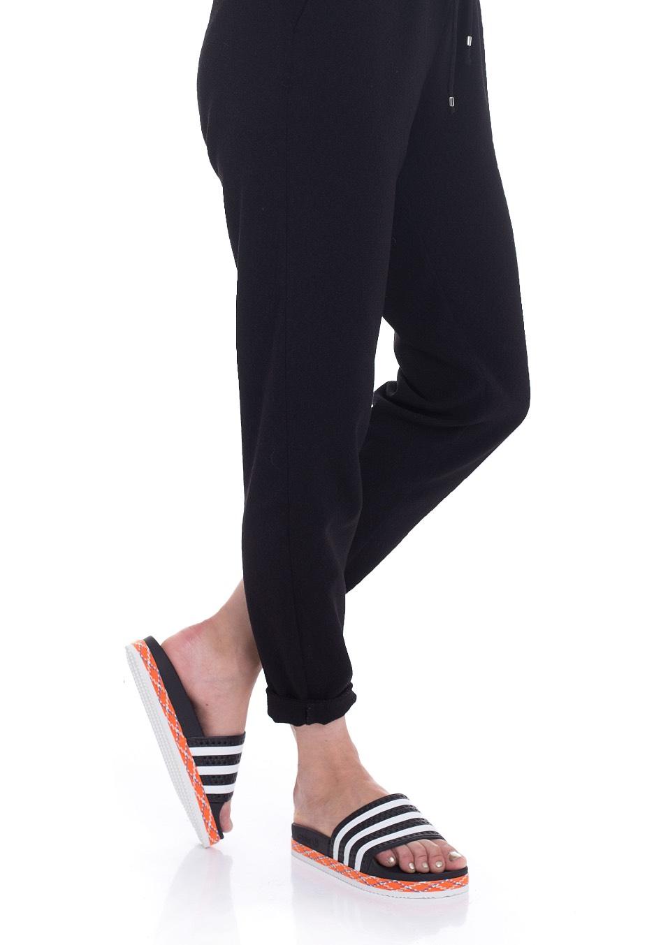 2f265e32200087 ... Adidas - Adilette New Bold Core Black White Core Black - Girl Sandals