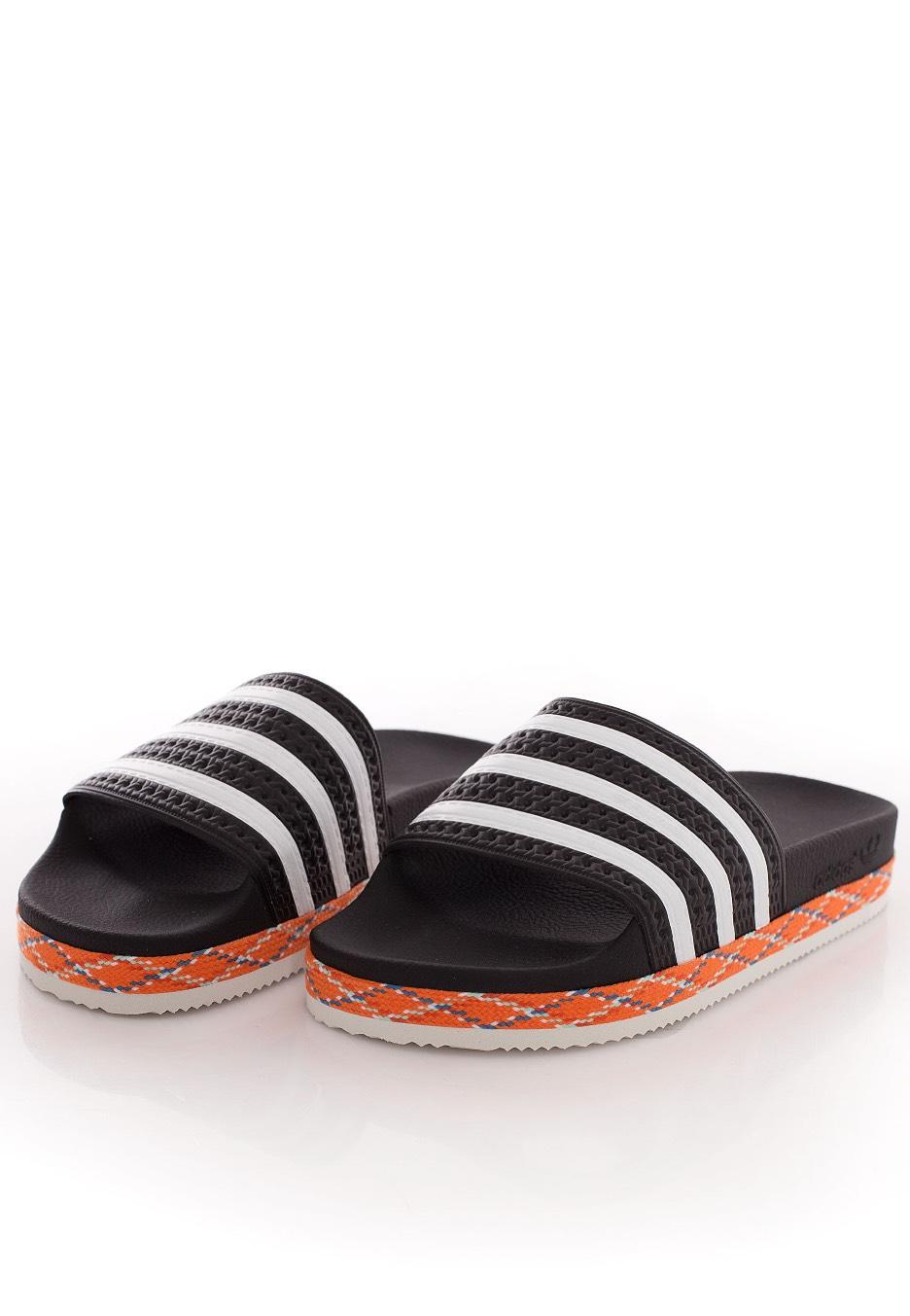 9b262b439a1f36 ... Adidas - Adilette New Bold Core Black White Core Black - Girl Sandals  ...