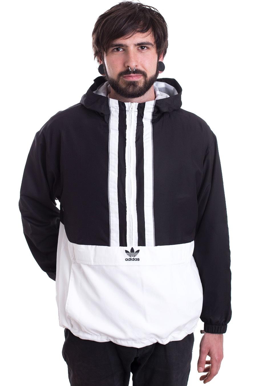 307278bac89c2 Adidas - Authentics Anorak Black White - Jacket - Streetwear Shop -  Impericon.com UK