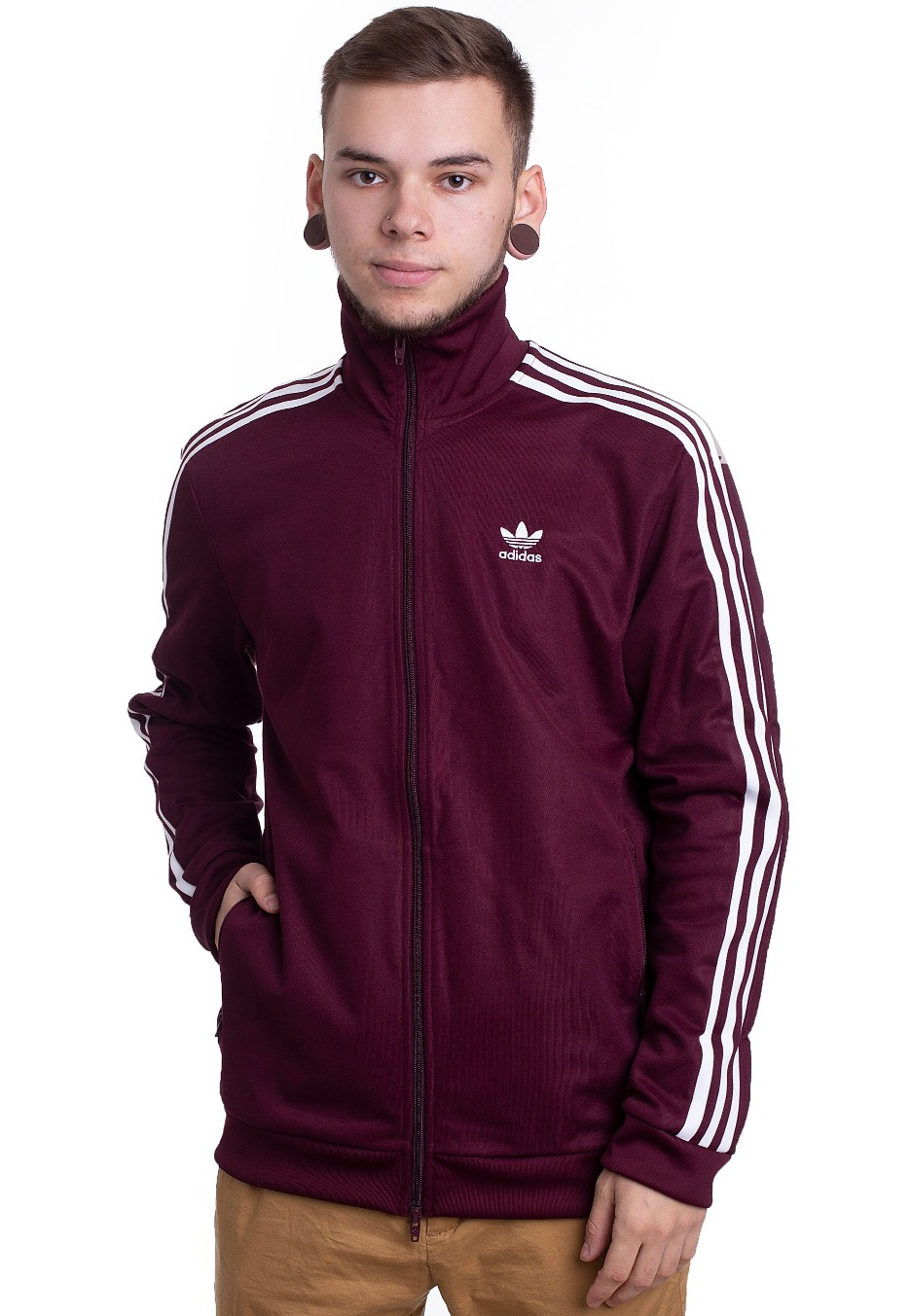 official photos 8fef3 12fc5 Adidas - Beckenbauer Maroon - Track Jacket - Streetwear Shop -  Impericon.com UK