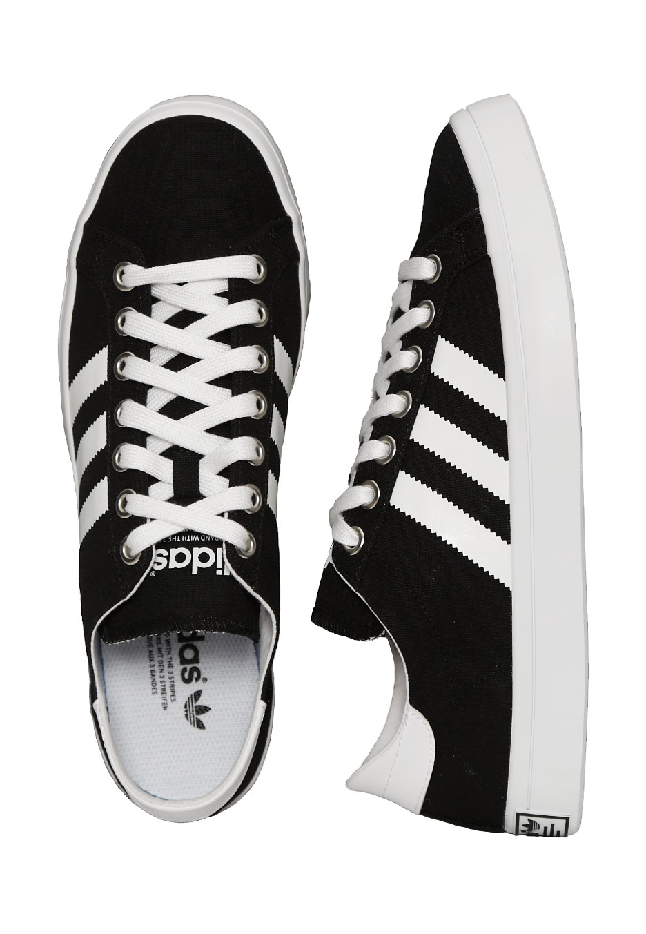 quality design 51ce6 dd0ad Adidas - Court Vantage Core Black FTWR White Metallic Silver SLD - Shoes -  Impericon.com Worldwide