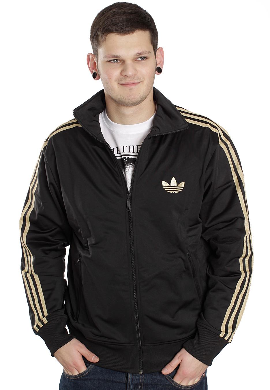 df91a639279c Adidas - Firebird Black Metallic Gold - Track Jacket - Streetwear Shop -  Impericon.com UK
