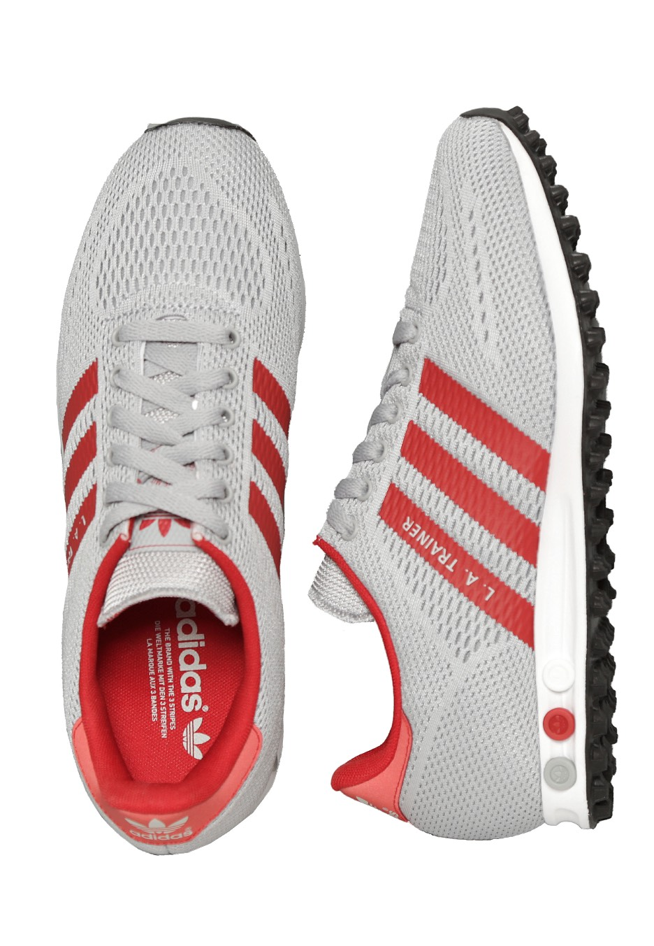 Adidas - LA Trainer EM Clear Onix Power Red FTWR White - Shoes -  Impericon.com AU db3cb2757