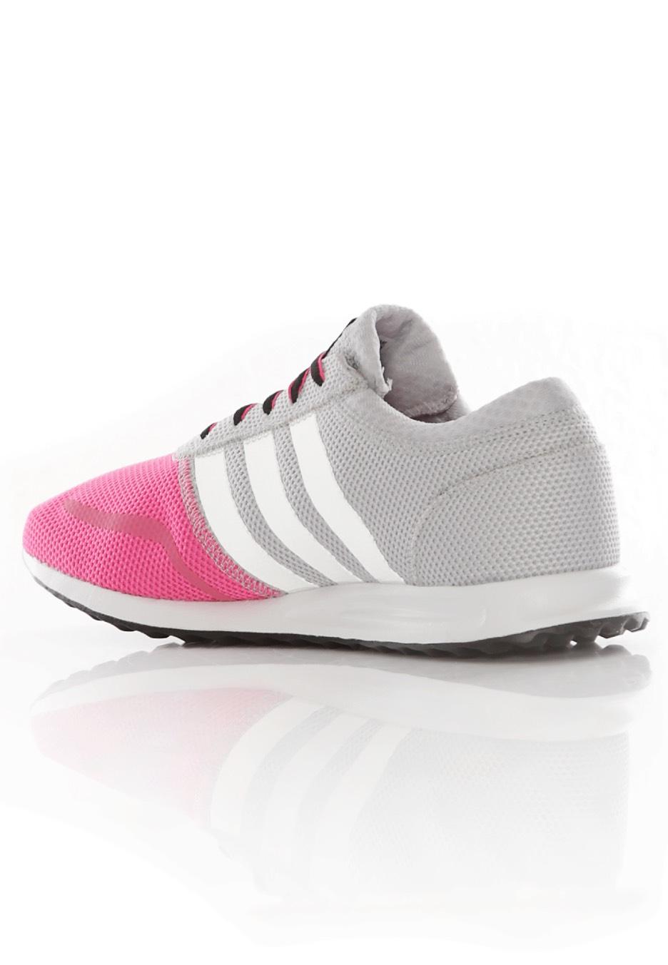 750e69e47b6 ... Adidas - Los Angeles K Light Solid Grey Ftwr White Shock Pink - Girl ...