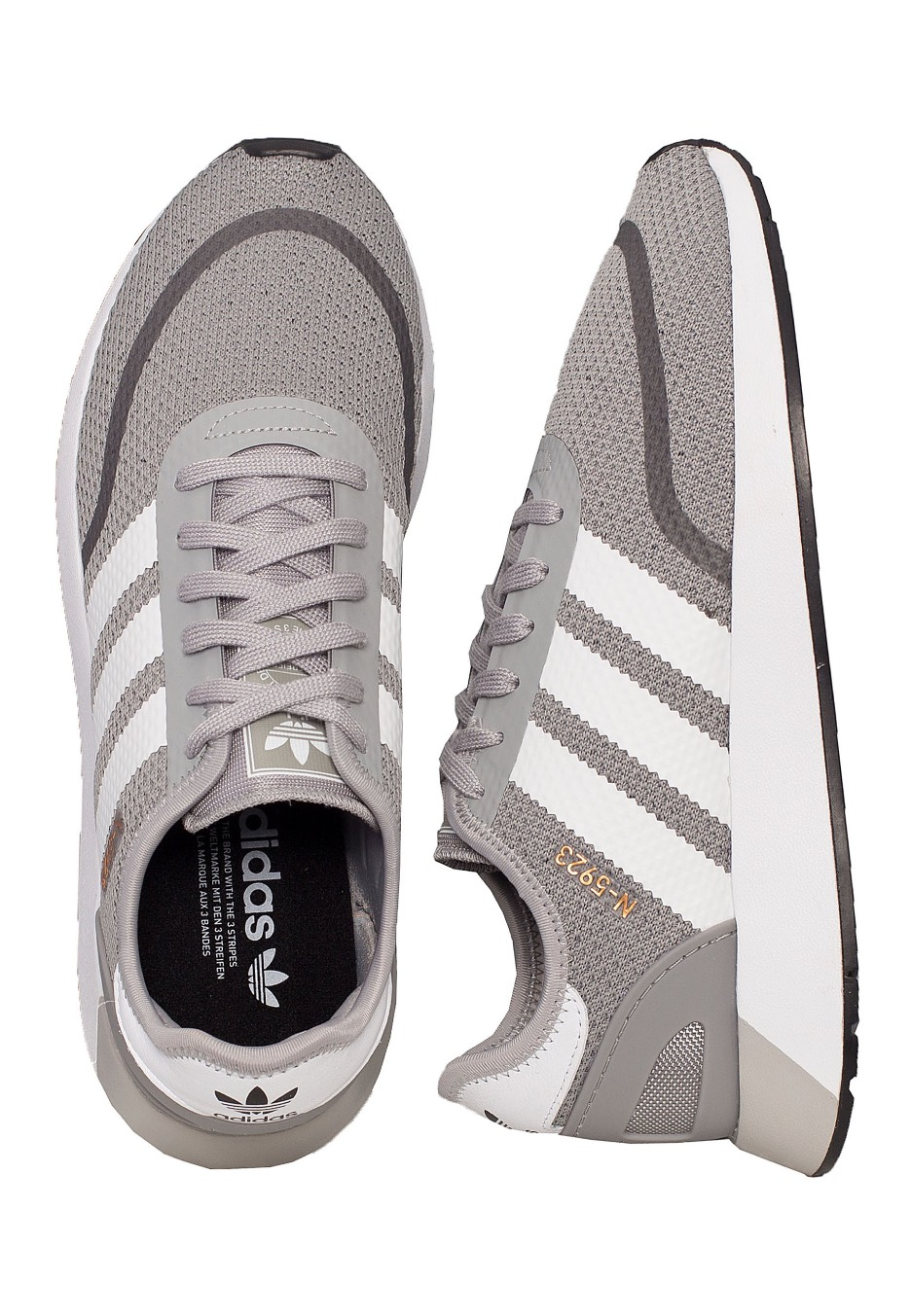 Adidas - N-5923 Solid Grey Ftw White Core Black - Shoes - Impericon.com  Worldwide 8bf2176002a8e