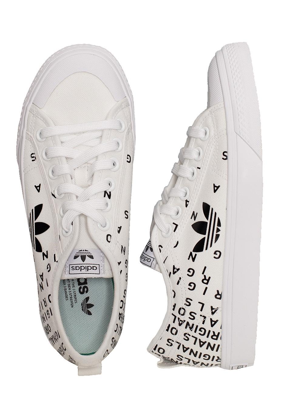 Adidas Nizza Trefoil W FTW WhiteCore BlackFTW White Girl Schuhe