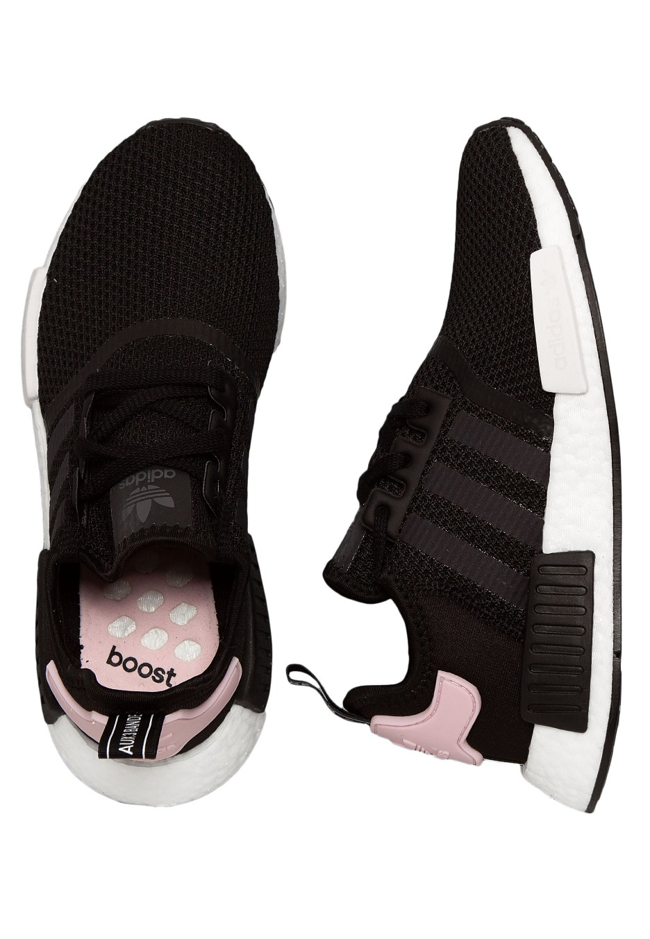 huge selection of d0dbe 8c725 Adidas - NMD_R1 W Core Black/Ftwr White/Clear Pink - Girl Shoes