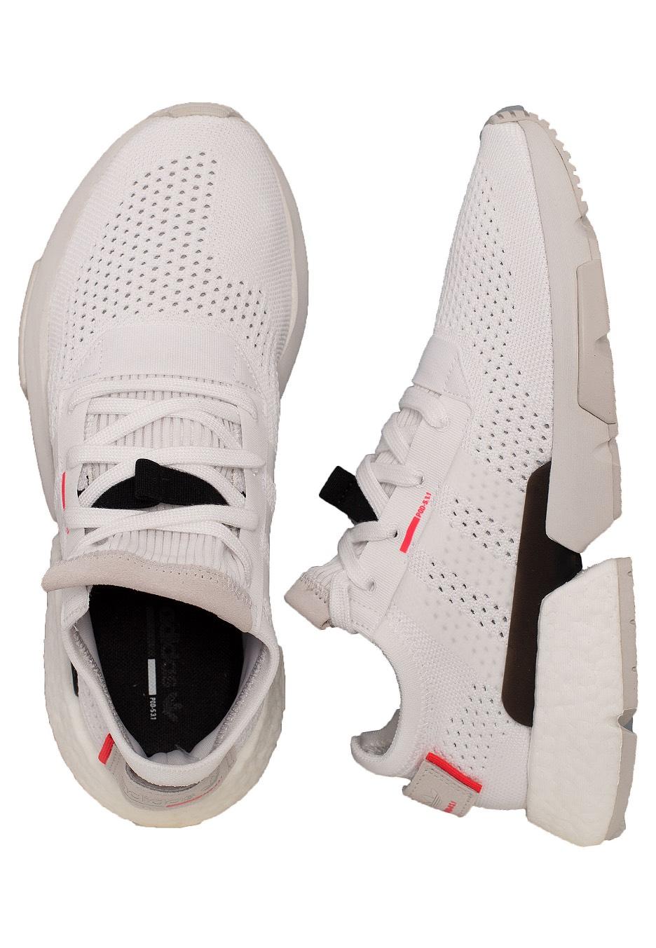 Adidas POD S3.1 Ftwr WhiteFtwr WhiteRed Shoes