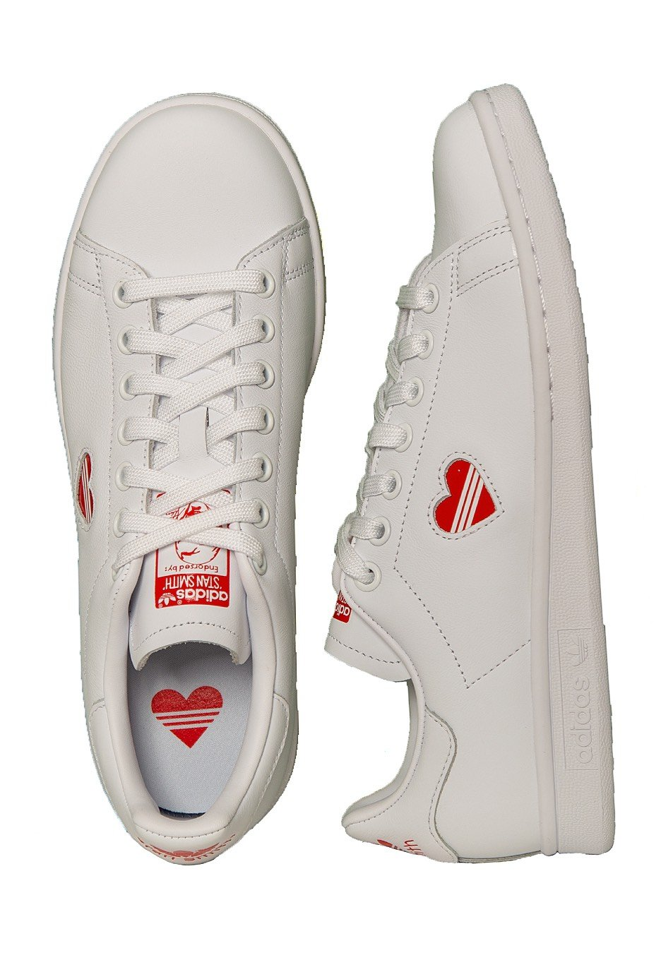 new concept 3c918 0e016 Adidas - Stan Smith W Ftwr White/Act Red/Ftwr White - Girl Shoes