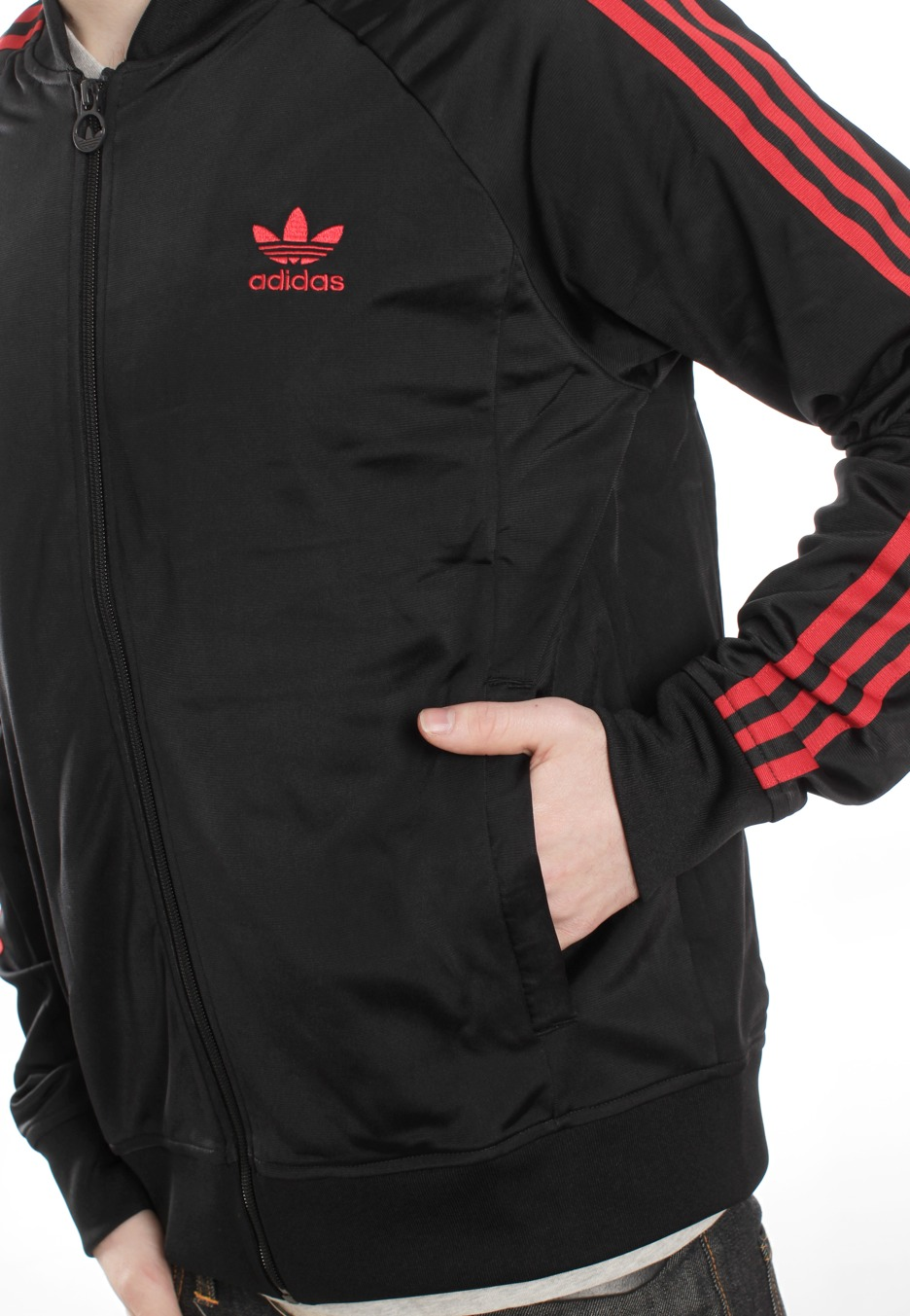 Adidas Superstar Tt Black Light Scarlet Track Jacket