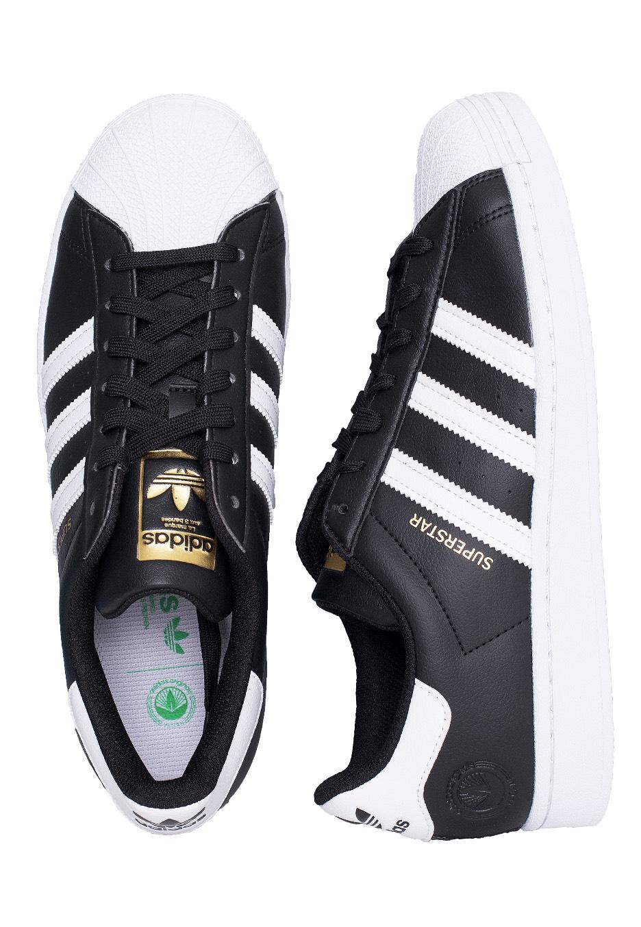 Adidas - Superstar Vegan Core Black/Ftwr White/Gold Met. - Sneakers