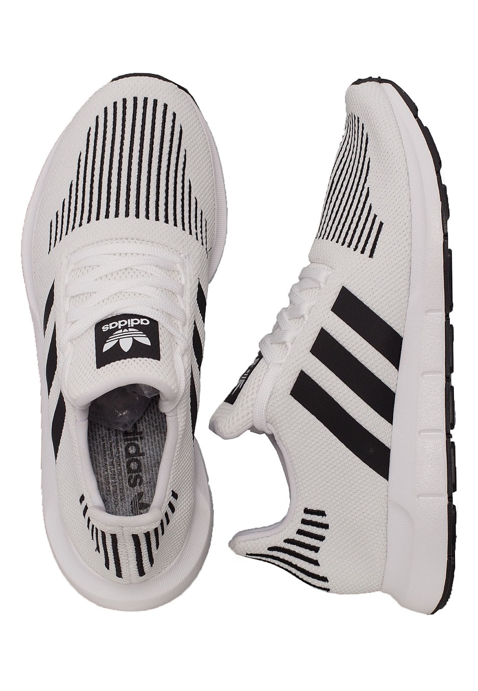 580865a874 Adidas - Swift Run Ftw White/Core Black/Medium Grey Heather - Shoes