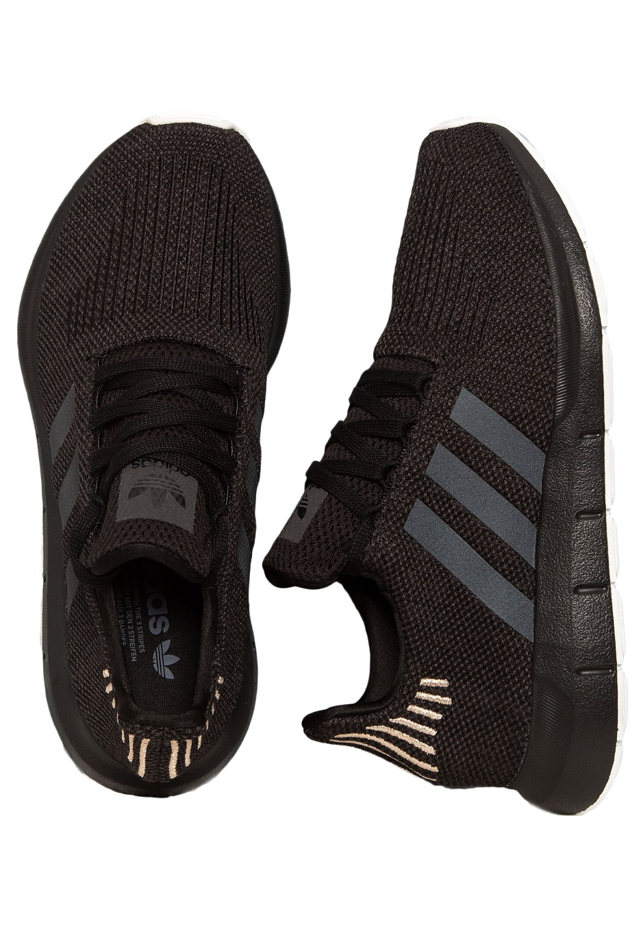 efd5707aaebb76 Adidas - Swift Run W Core Black Carbon Ftwr White - Girl Shoes -  Impericon.com Worldwide