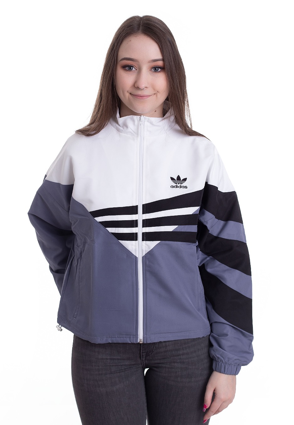 Jacken für Frauen - Adidas Track Top Rawind White Black Jacken  - Onlineshop IMPERICON