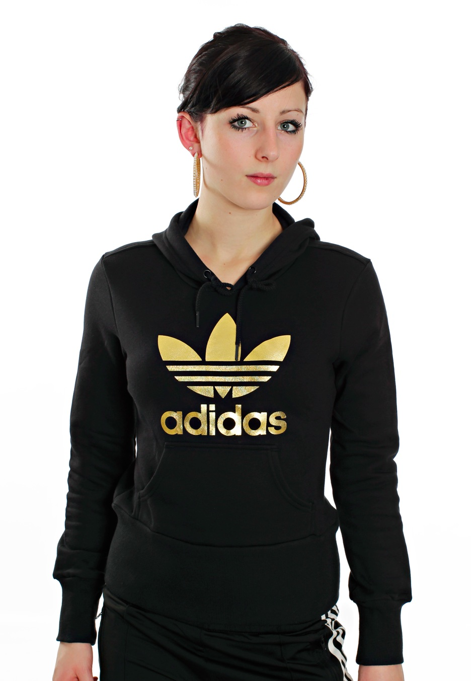 black and gold adidas sweater