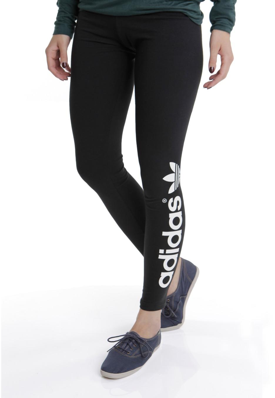 Adidas - Trefoil Black/Running White - Leggings - Boutique streetwear - Impericon.com FR