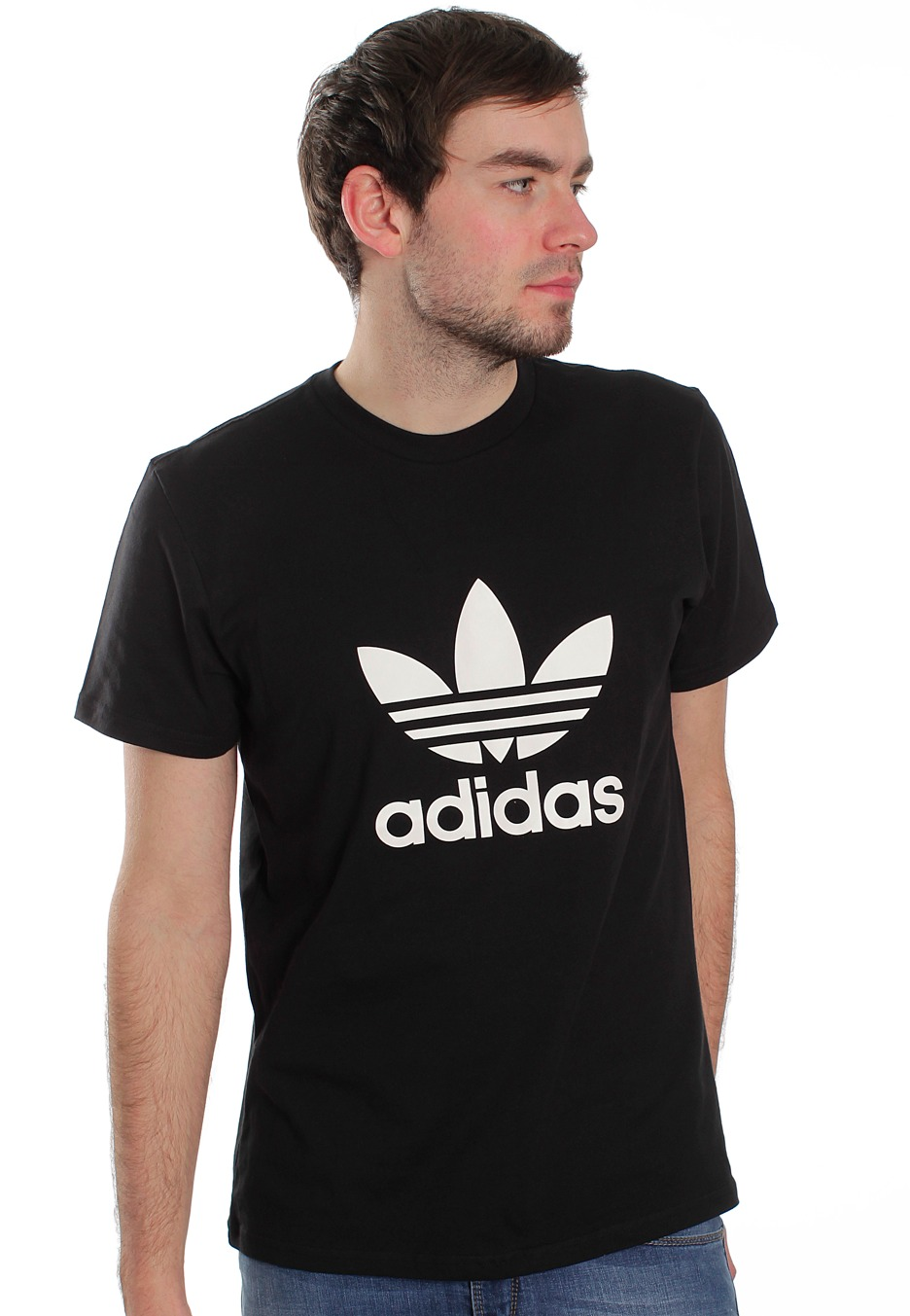 Adidas t shirt black white - Adidas Trefoil Black White T Shirt Streetwear Shop Impericon Com Worldwide