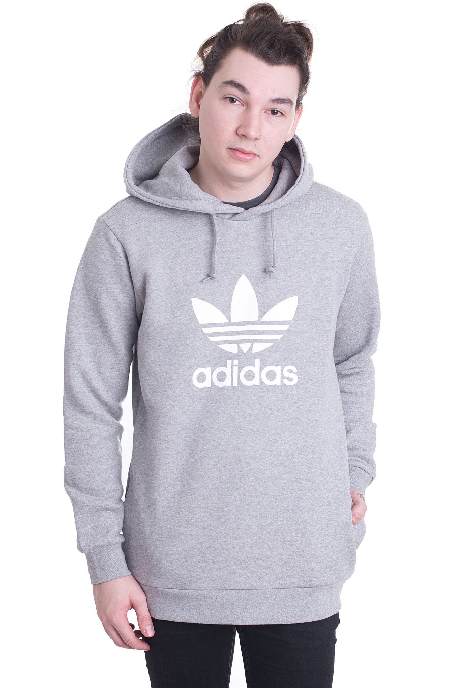 sale retailer a0123 0e6b2 Adidas - Trefoil Medium Grey Heather - Hoodie - Streetwear Shop -  Impericon.com US