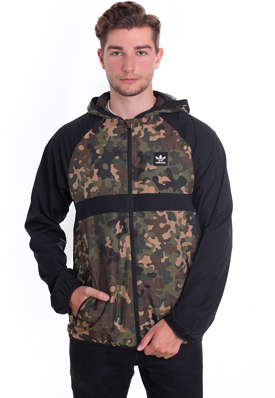 Adidas - Windbreaker AOP Camo Print Black - Windbreaker - Streetwear ... 9220468afe