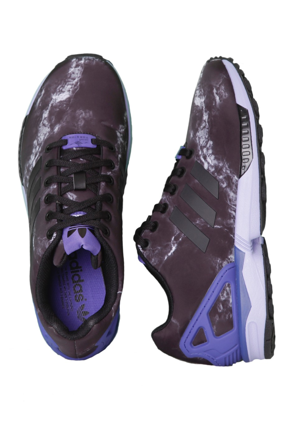 uk availability 41473 51f63 Adidas - ZX Flux Black Powerpurple Purple - Girl Shoes - Impericon.com  Worldwide
