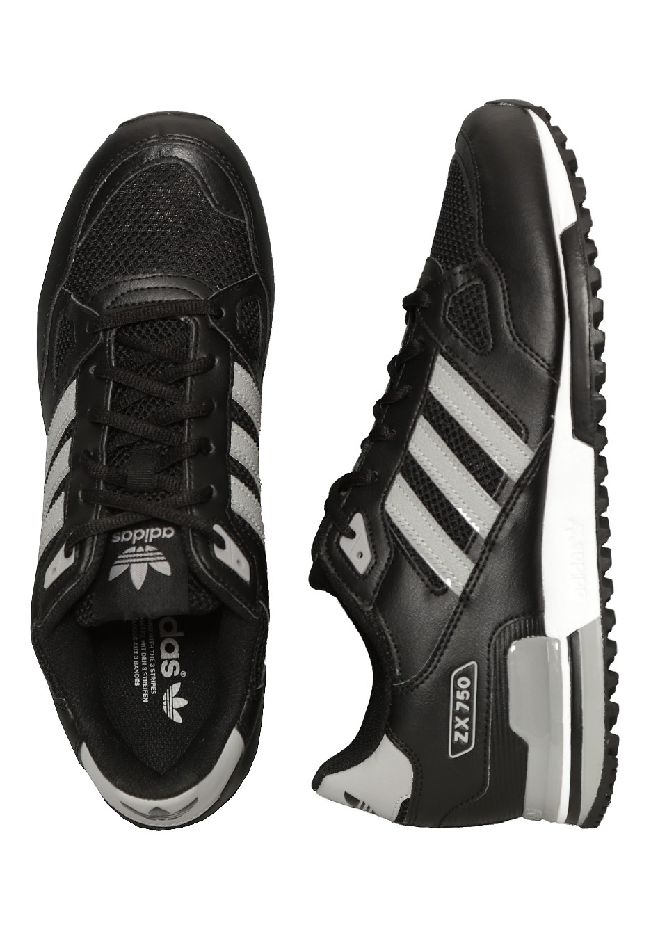 reputable site a1aec 2cdbc Adidas - ZX 750 Core Black MGH Solid Grey MGH Solid Grey - Shoes -  Impericon.com UK