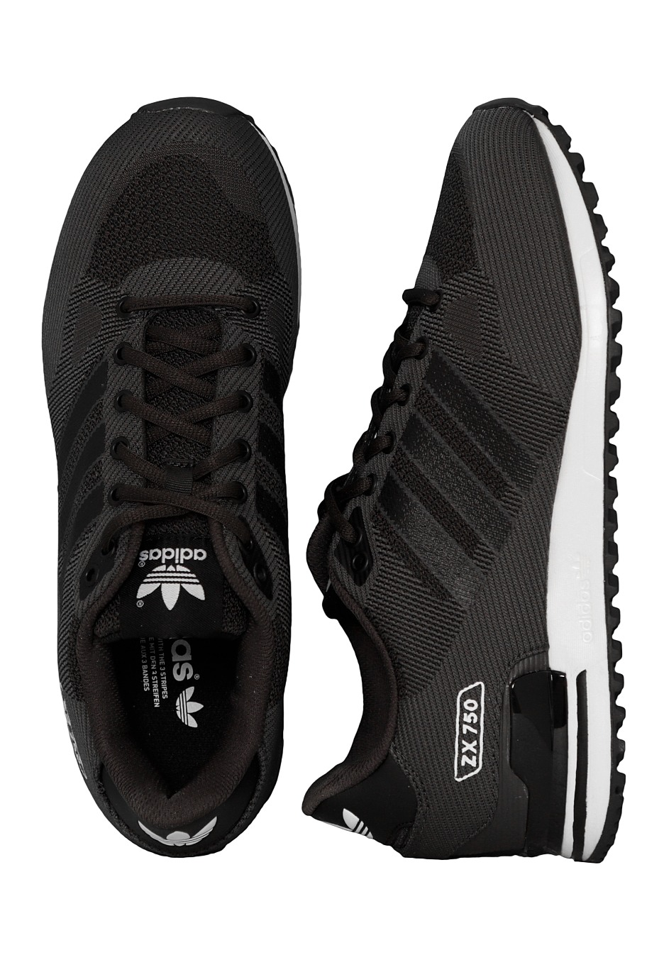 new concept 712d2 8947b Adidas - ZX 750 WV Shadow Black Core Black Ftwr White - Shoes -  Impericon.com UK