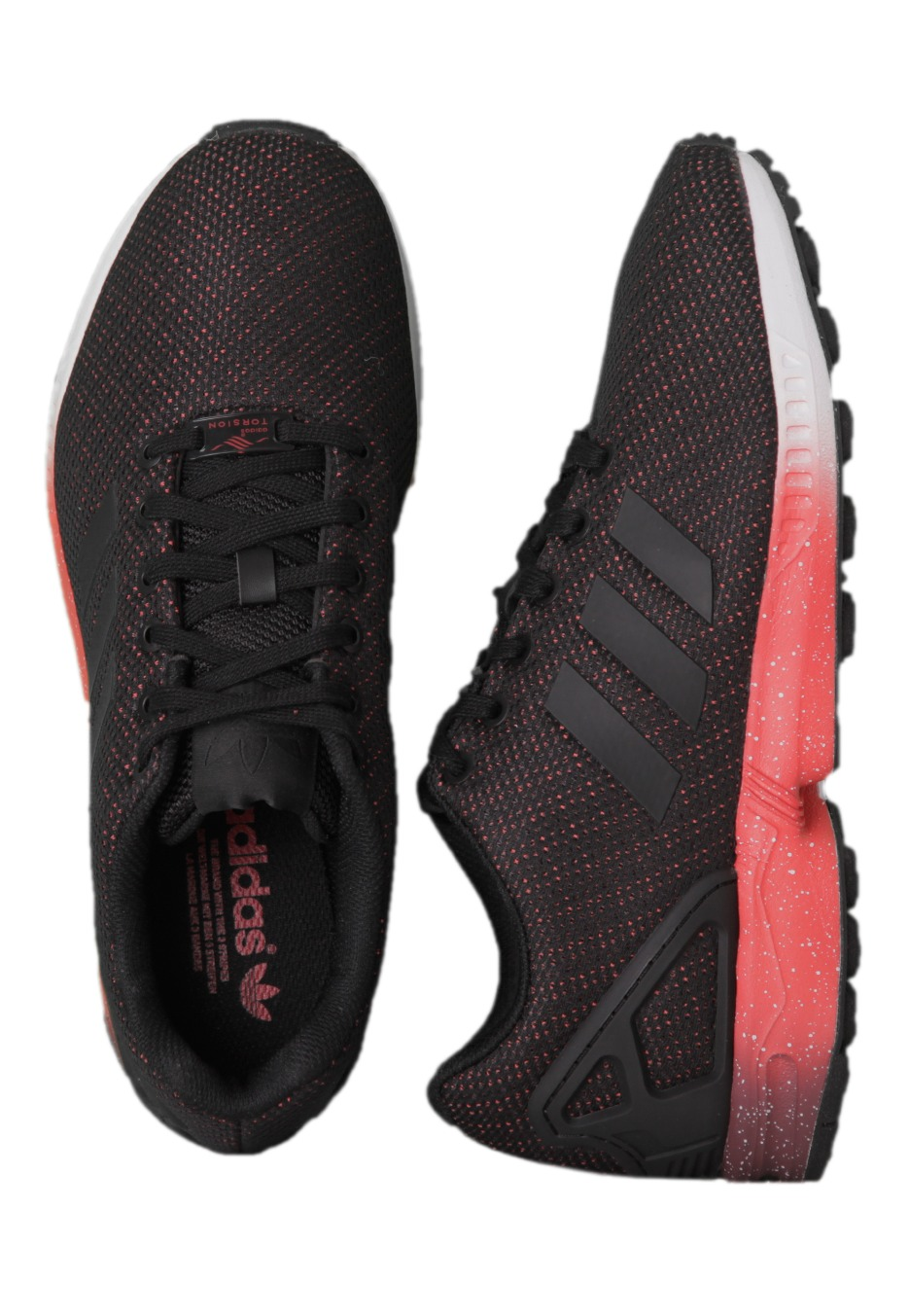 new styles a8e9c a33a3 Adidas - ZX Flux Core Black/Red/Power Red - Shoes