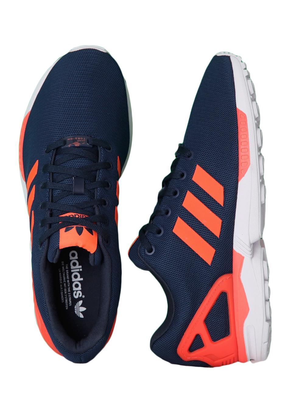promo code 8ee0c 414c4 Adidas - ZX Flux New Navy/Infrared/Running White - Shoes