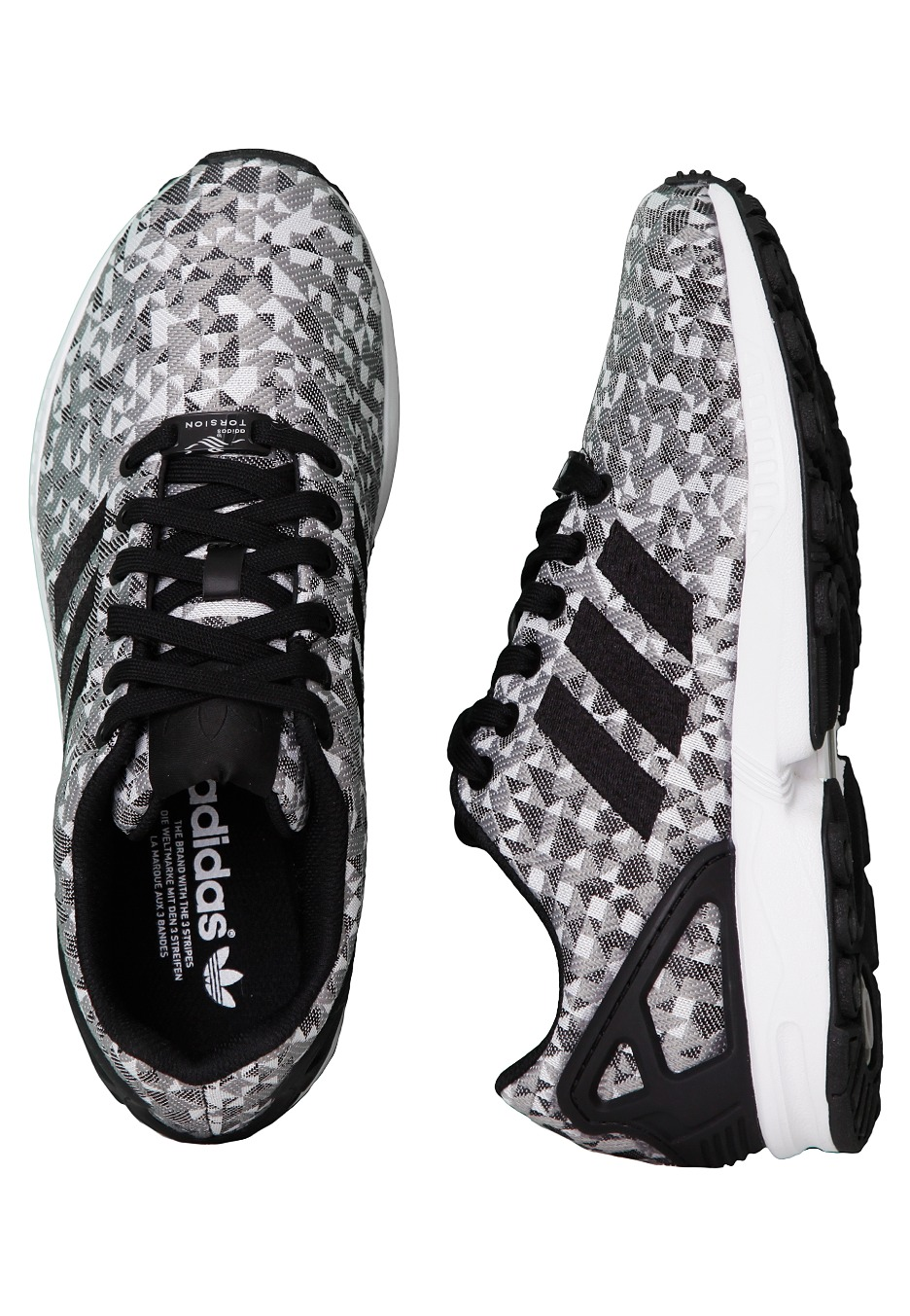 purchase cheap 8255f 144c7 Adidas - ZX Flux Weave Ftwr White Core Black Charcoal Solid Grey - Shoes -  Impericon.com UK