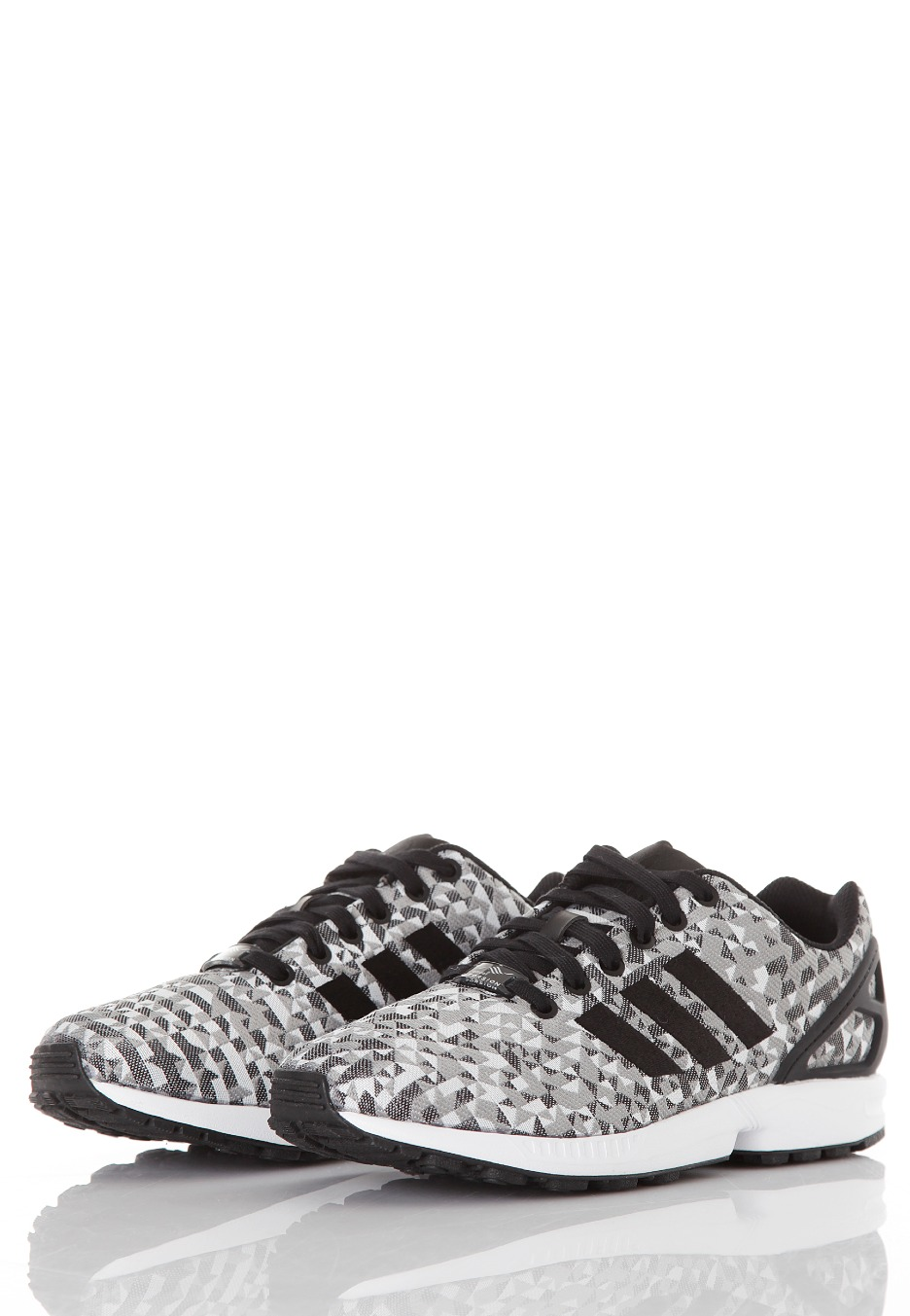 newest a5fb6 4671a ... Adidas - ZX Flux Weave Ftwr White Core Black Charcoal Solid Grey -  Shoes ...