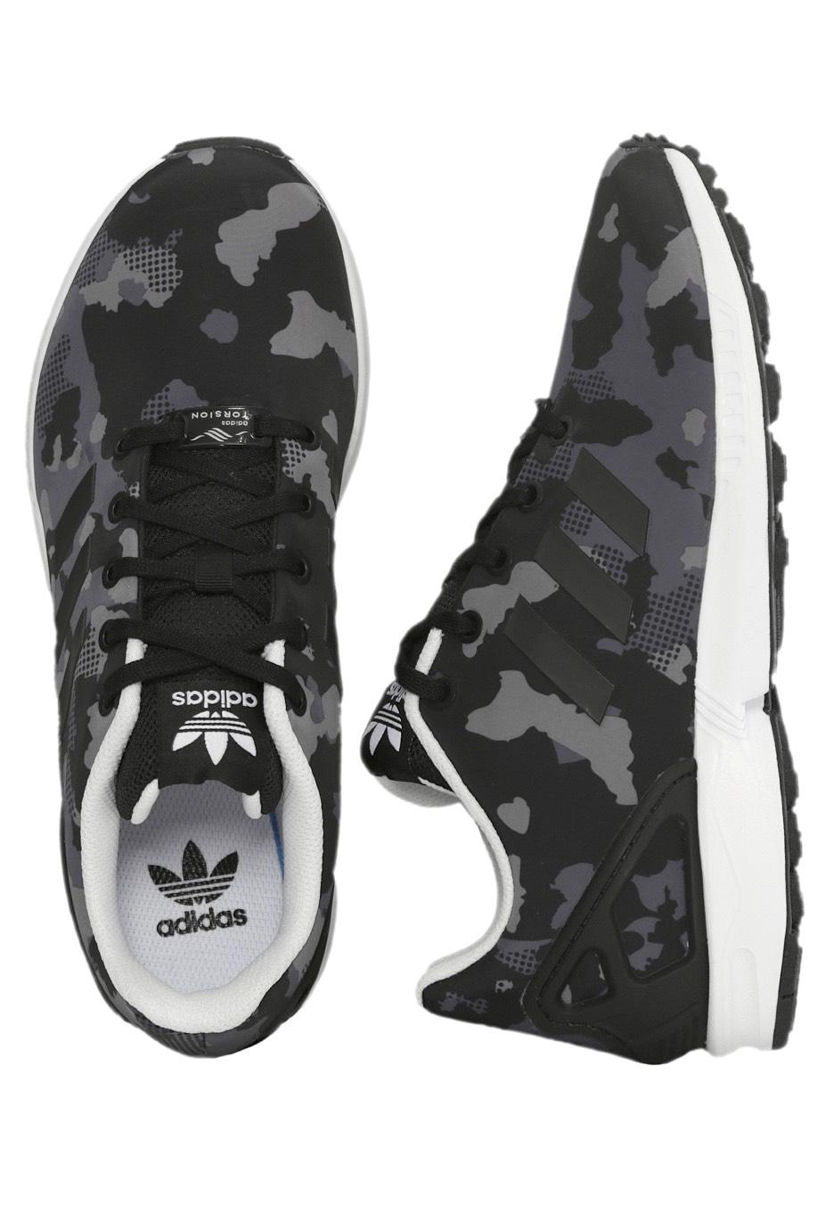 80543f424dcc6 Adidas - ZX Flux J Core Black Core Black FTWR White - Girl Shoes -  Impericon.com UK