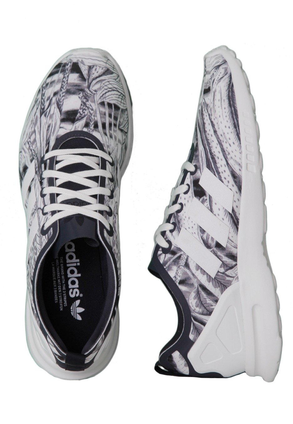 cheap for discount 5a1d4 75827 Adidas - ZX Flux Smooth W Legend InkLegend InkCore White - Girl Shoes -  Impericon.com UK
