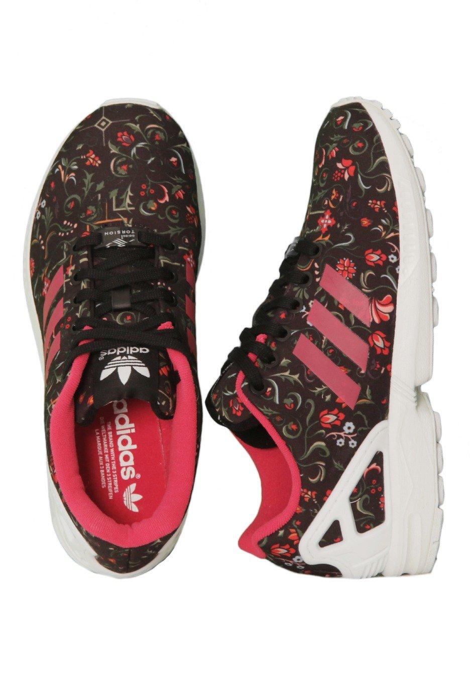 ecc0ee010645e Adidas - ZX Flux W Core Black Vivid Berry Ftwr White - Girl Shoes -  Impericon.com UK