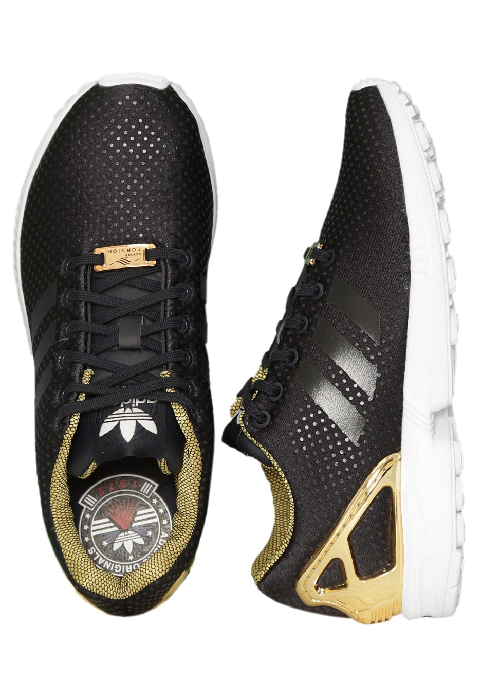 competitive price d904e 7e3c1 Adidas - ZX Flux W Legend Ink/Legend Ink/Gold Met - Girl Shoes