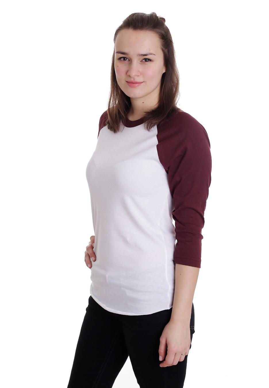 American Apparel - Raglan White Truffle - Longsleeve - Streetwear ... 7c5313a48