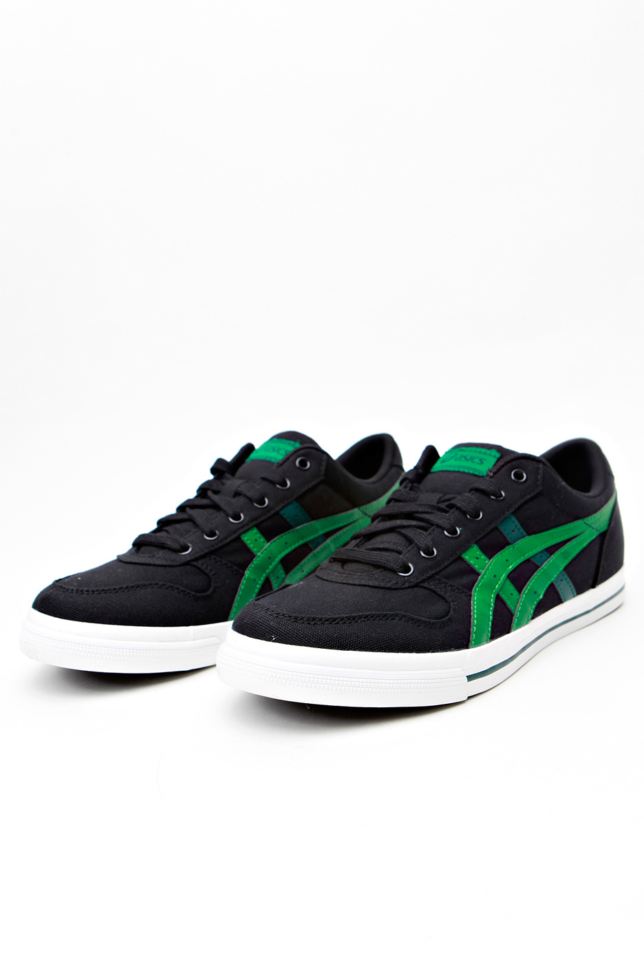 asics - aaron cv black  green - shoes
