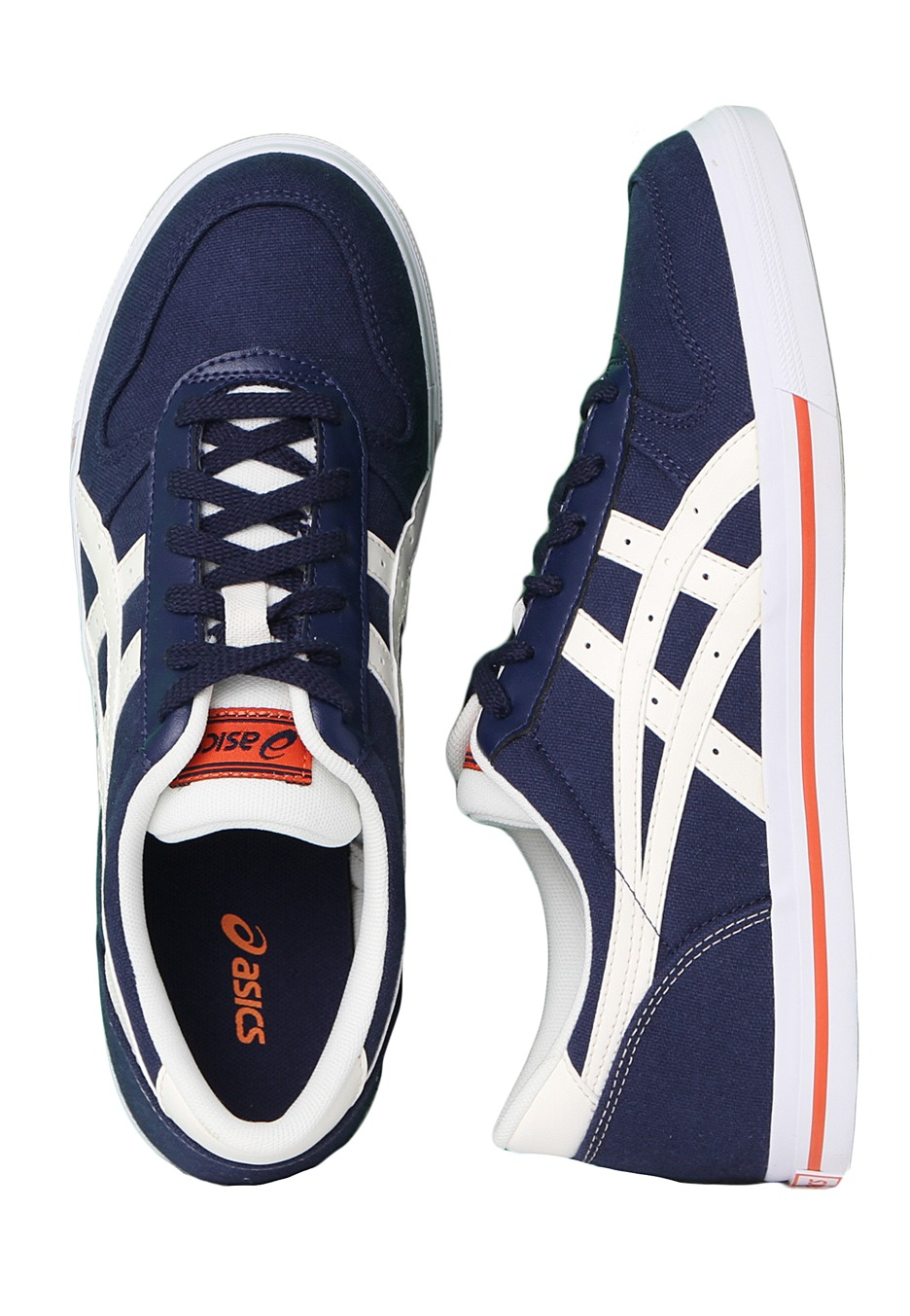 asics - aaron cv navy  off-white - shoes