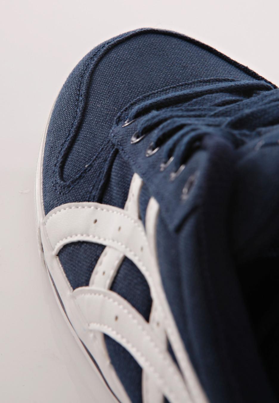 asics - aaron cv navy  white - schoenen
