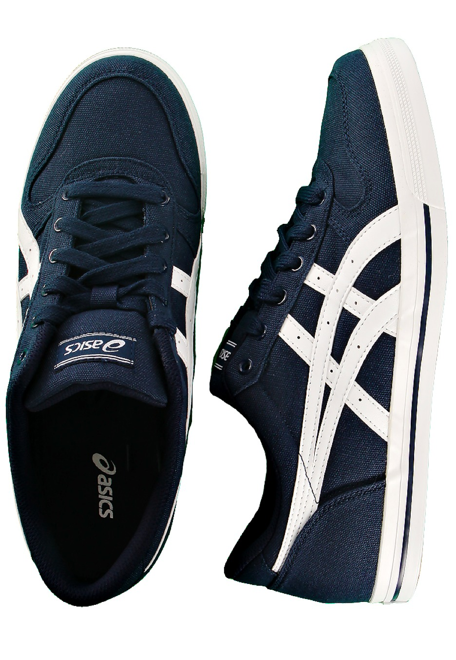 asics - aaron cv navy  white - shoes