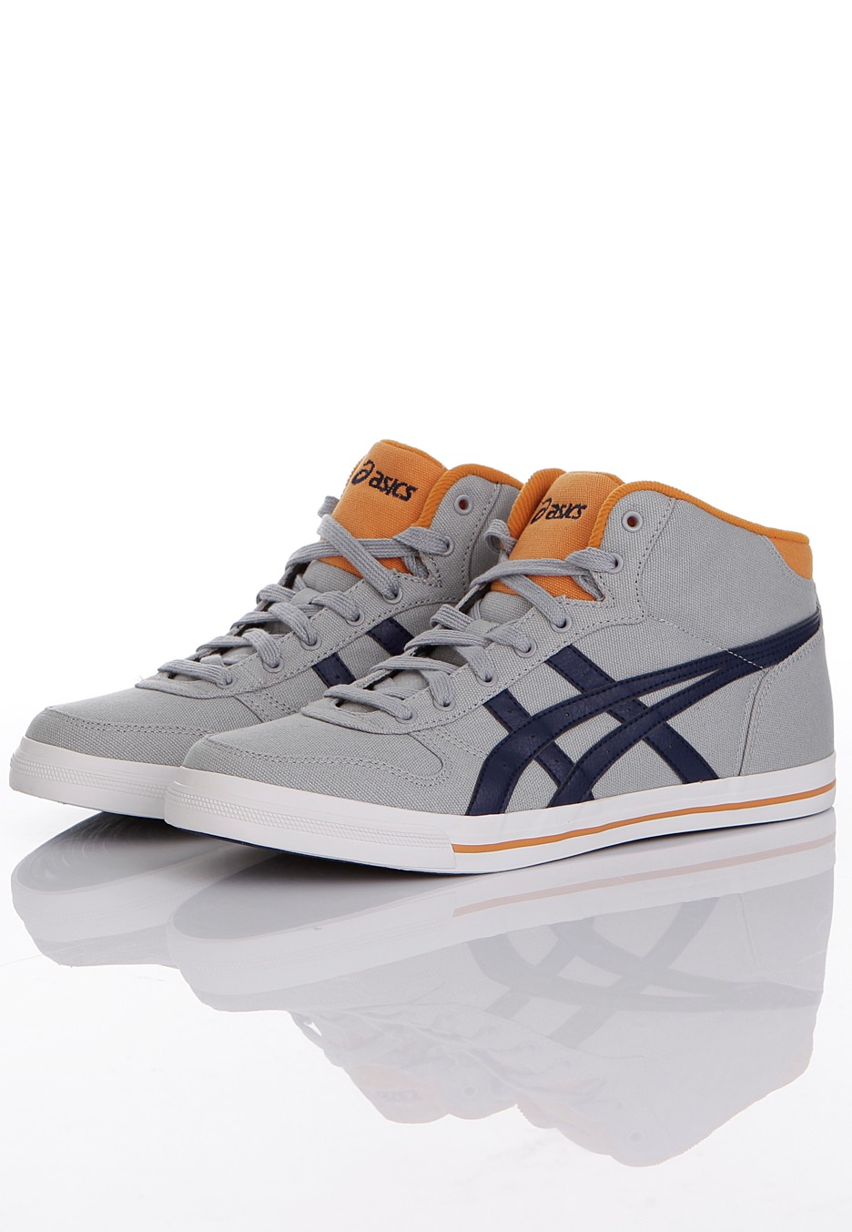 asics - aaron mt cv light grey - chaussures