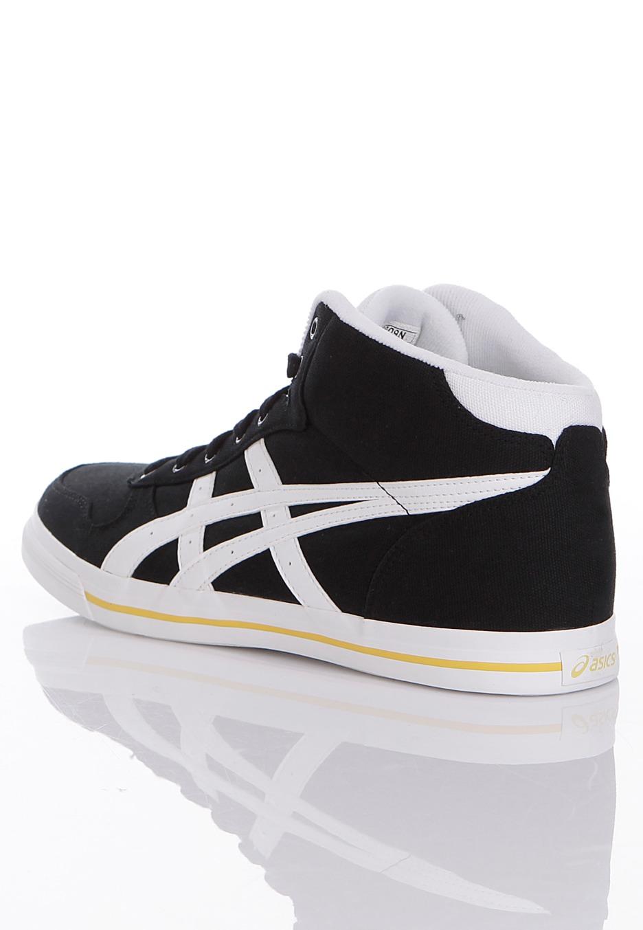 asics - aaron mt cv onyx  white - schoenen