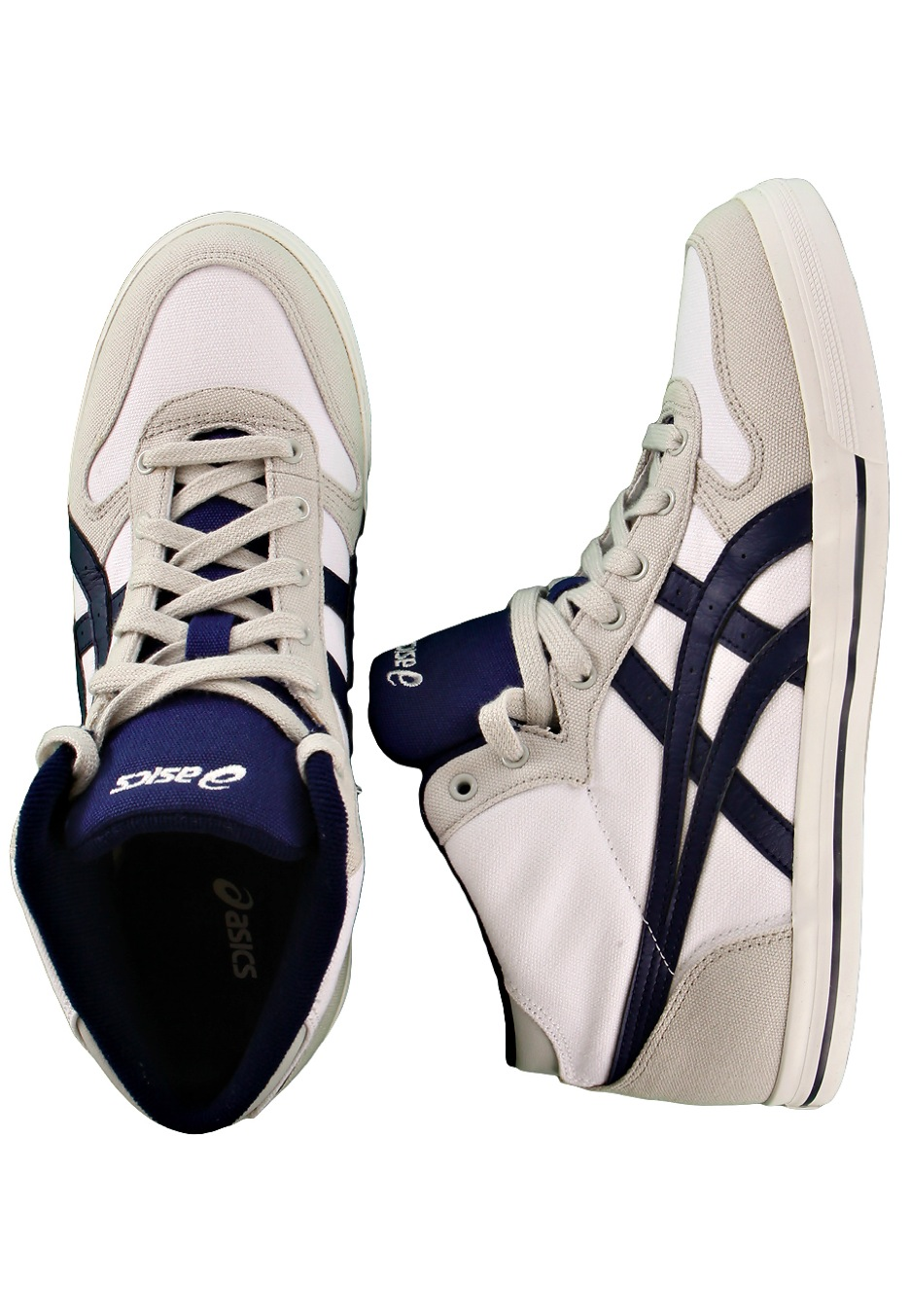 asics - aaron mt cv white  medieval blue - shoes