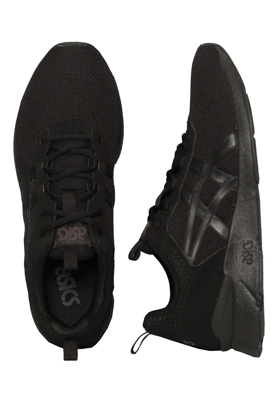 all black asics runners