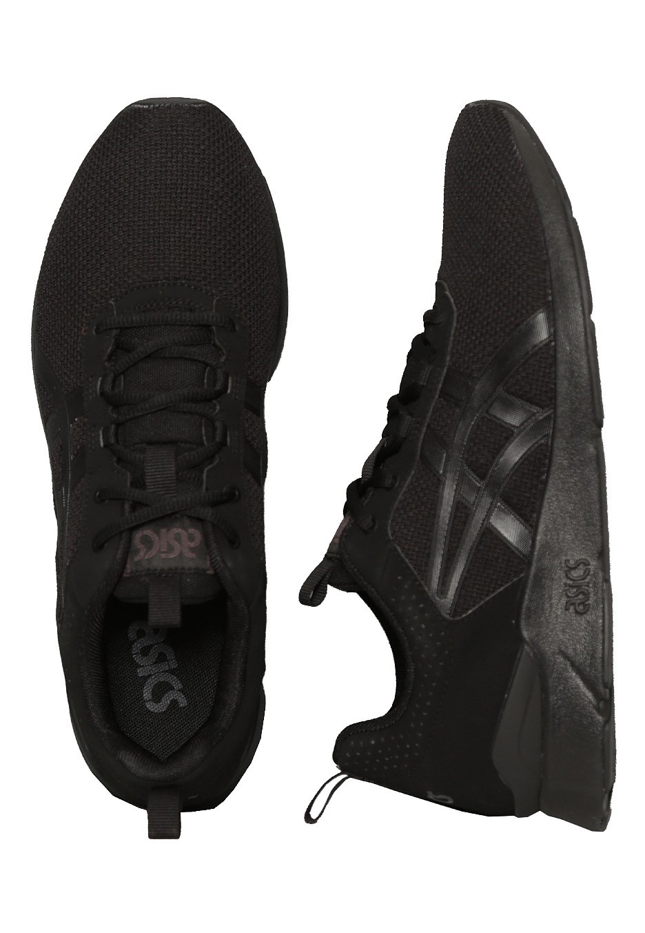 all black asics runners