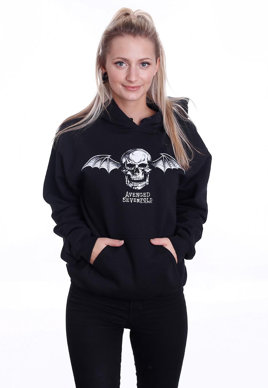 Metal Sevenfold Cappuccio Felpa Logo Bat Death Con Avenged vw0Fqdq