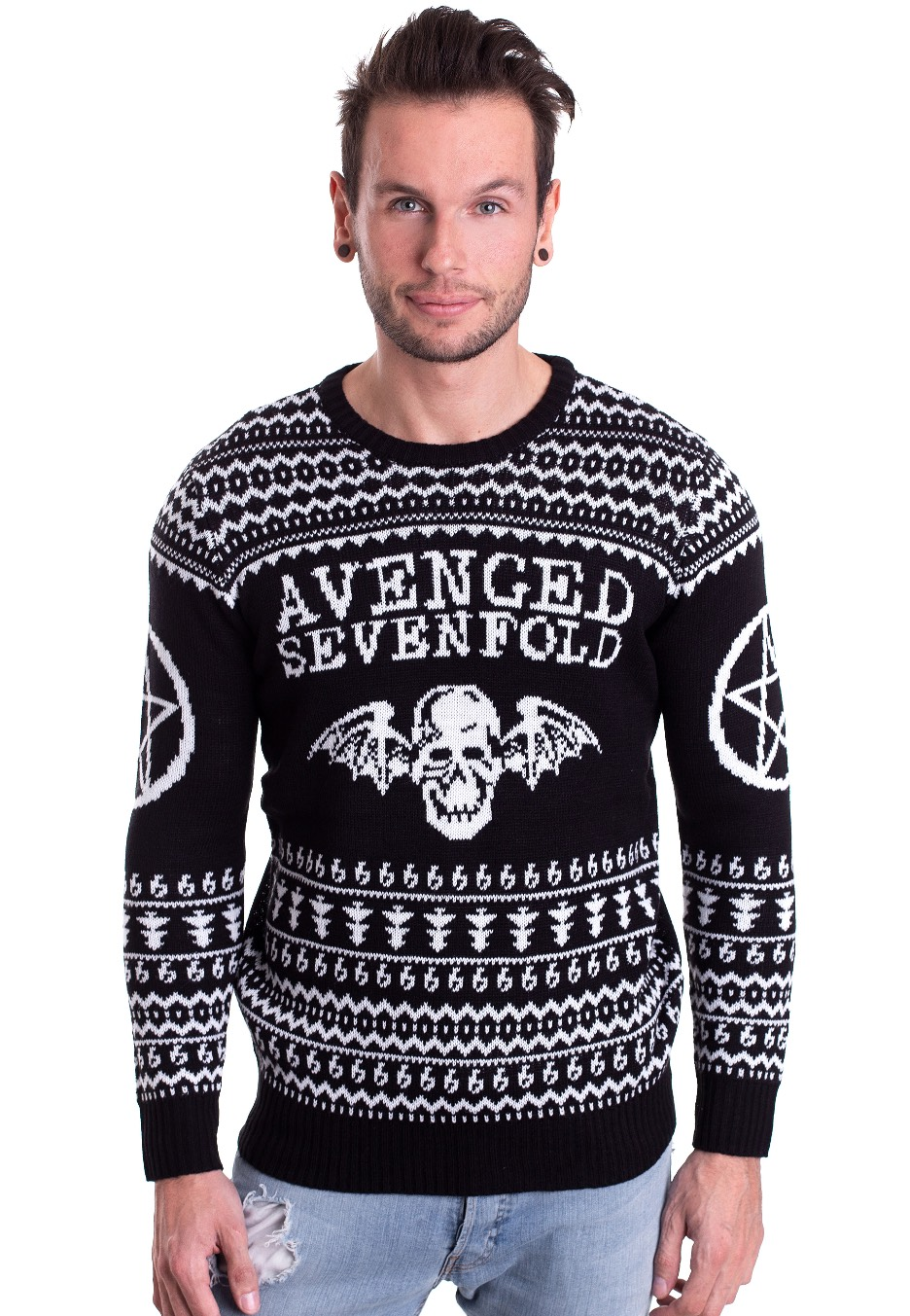 Avenged Sevenfold Ugly Christmas Sweater Official Hard Rock