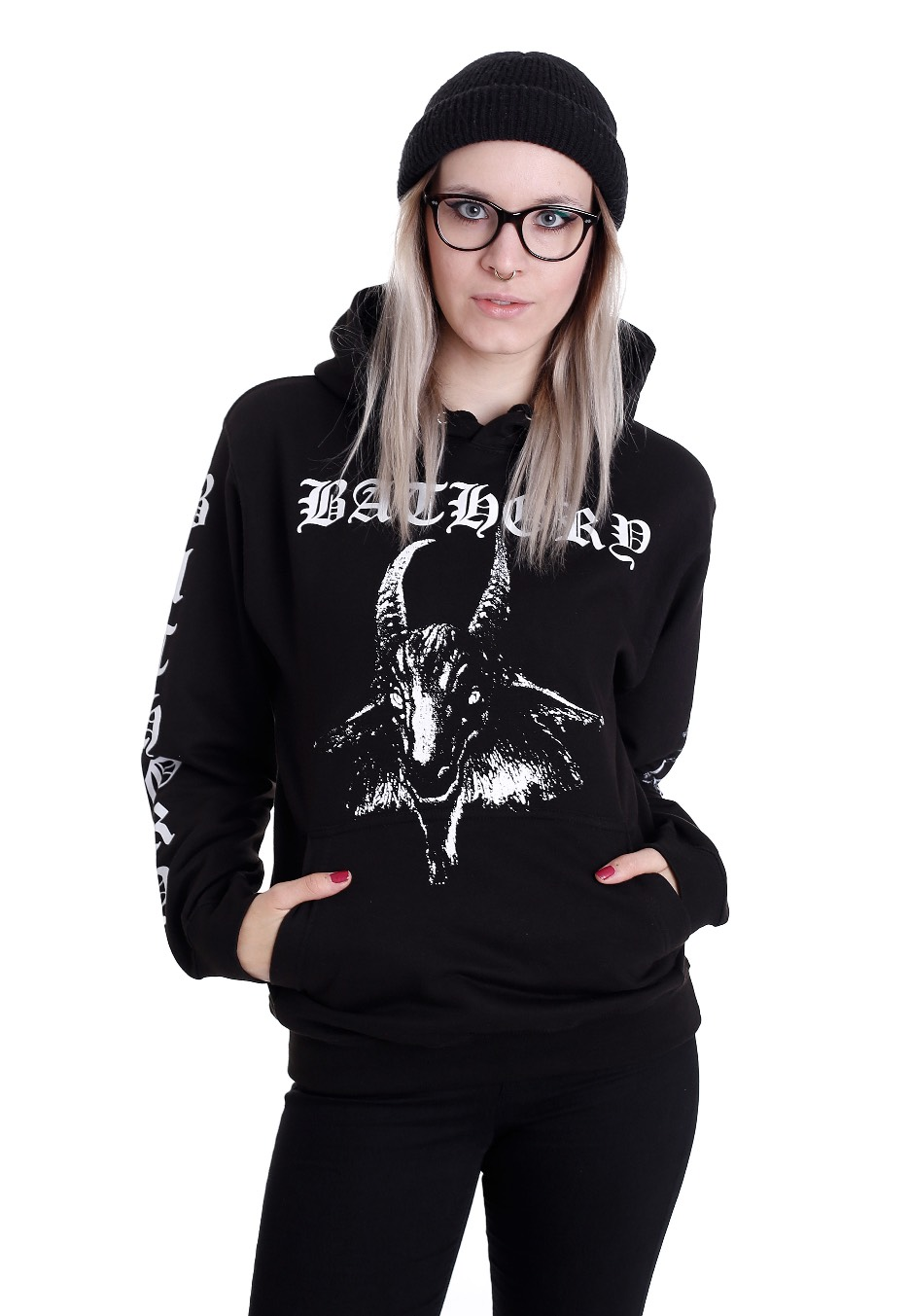 bathory goat hoodie offizieller metal merchandise