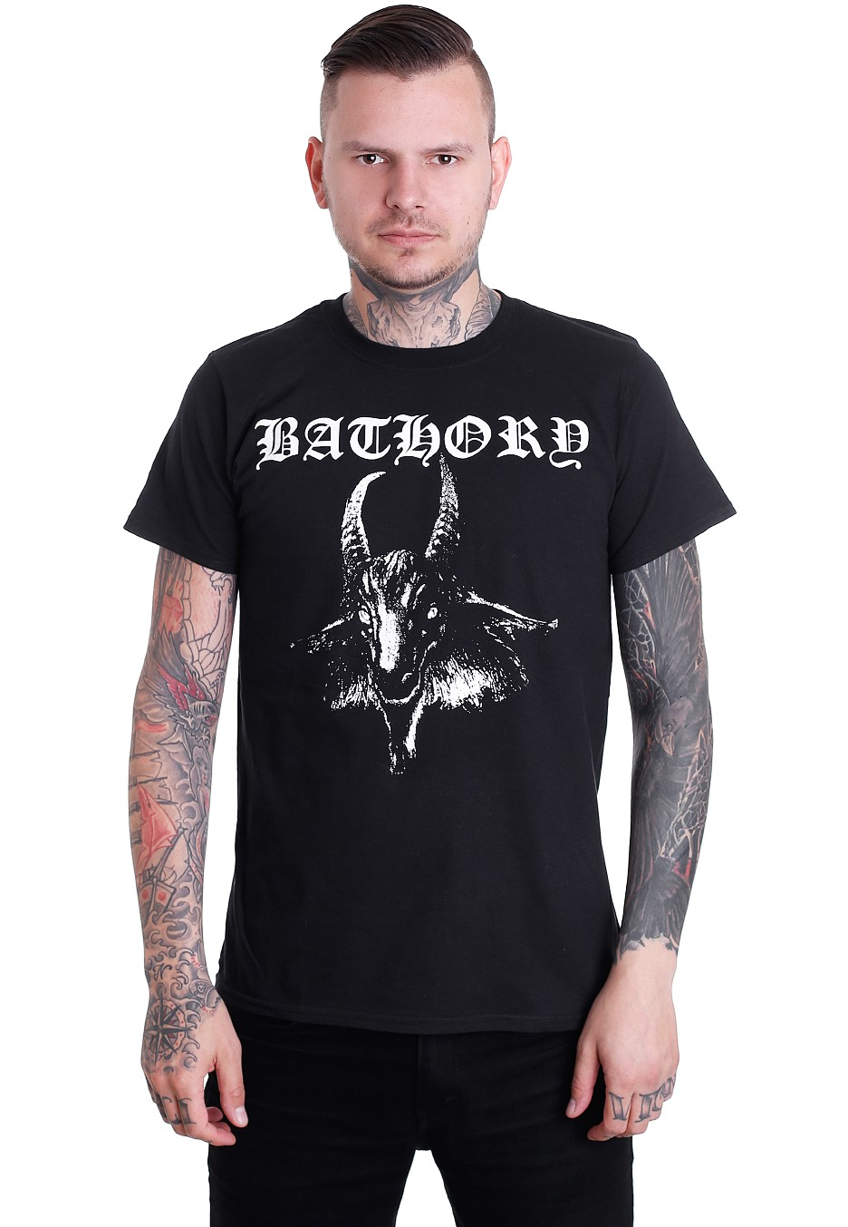 bathory goat tshirt official black metal